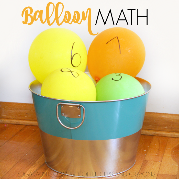 Use these movement and learning ideas with balloon math activities for making math fun for kids.