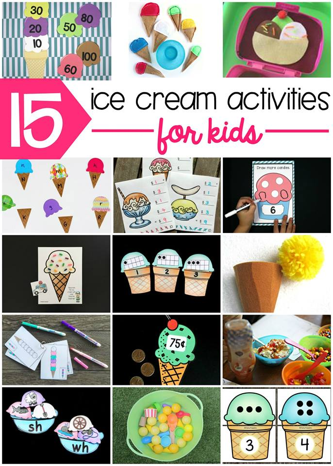 15 Ice Cream Themed Activities Kids LOVE!
