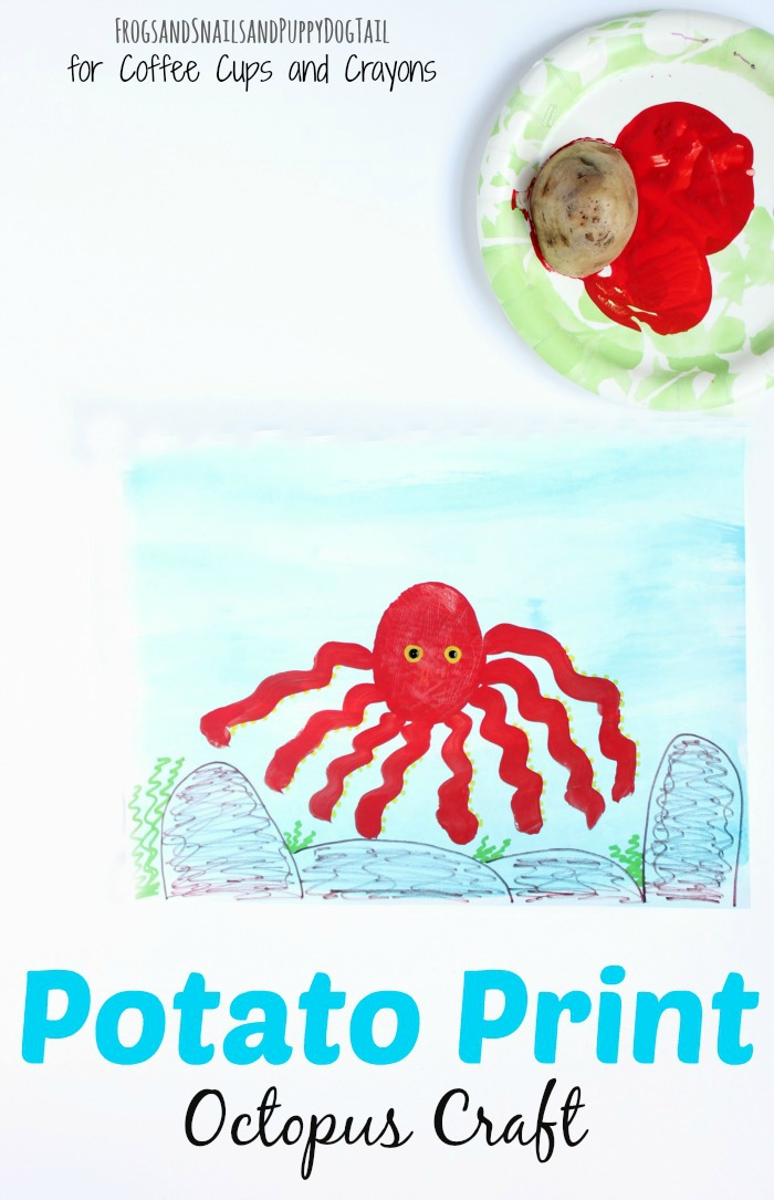 Potato Print Octopus Craft