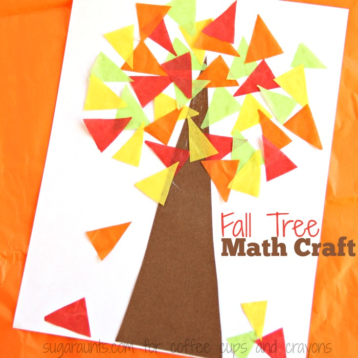 Fall Tree Math Craft on Preschool Number Craft Ideas