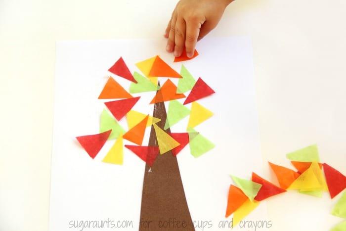 Make a Fall Tree Math Craft this Autumn!