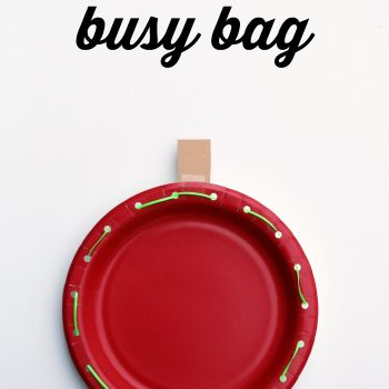 Apple Lacing Fine Motor Busy Bag