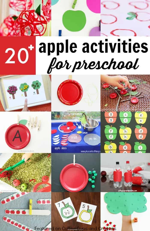 Super fun apple activities for preschoolers!