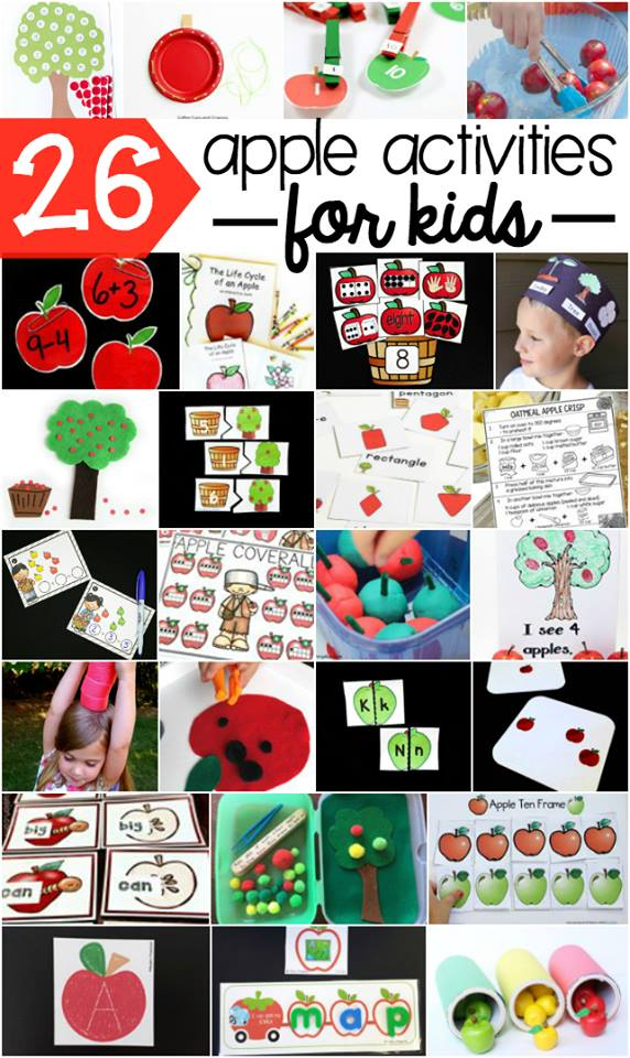 Tons of fun apple activities for kids!