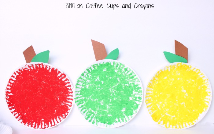 apple paper plate craft
