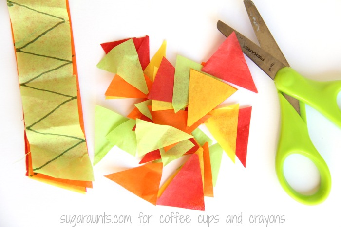 Kids can work on math concepts like triangle recognition with this Fall Tree Math Craft.
