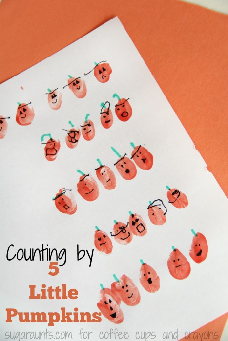 This Five Little Pumpkins counting by fives activity is perfect for the popular Halloween children's book.