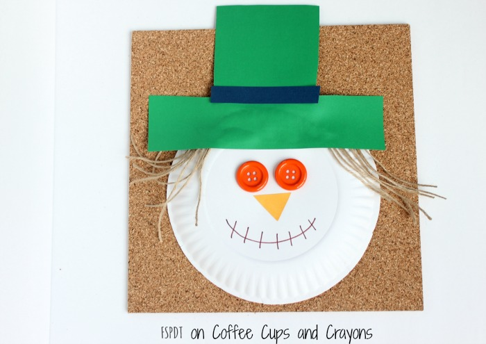cute scarecrow craft for kids  sc 1 st  Coffee Cups and Crayons : paper plate scarecrow craft - pezcame.com