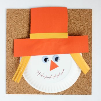 scarecrow paper plate craft for kids
