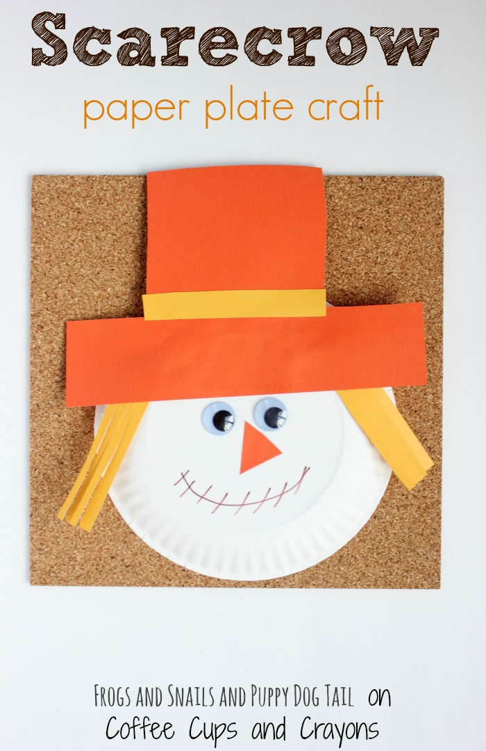 scarecrow paper plate craft for kids & Scarecrow Paper Plate Craft | Coffee Cups and Crayons
