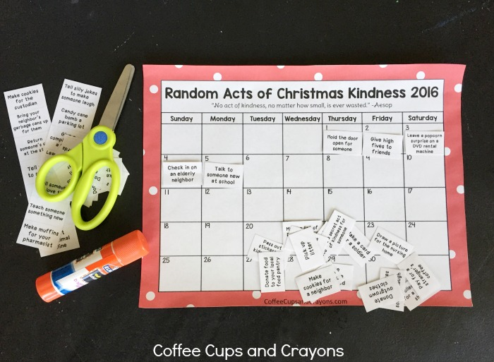 Random acts of christmas kindness printable pack pronofoot35fo Image collections