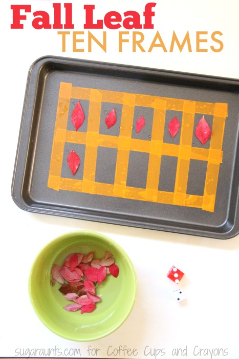 Try these fall leaves ten frame with kids this Fall!