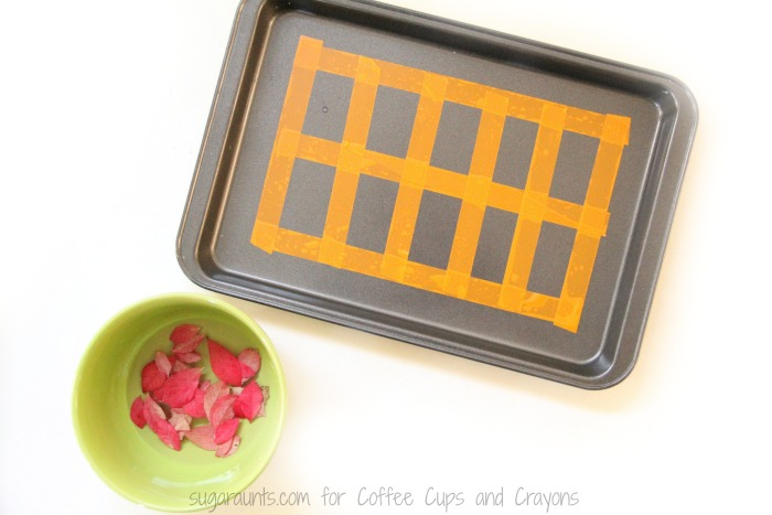 Kids will love this Fall leaves ten frames activity for hands-on math.