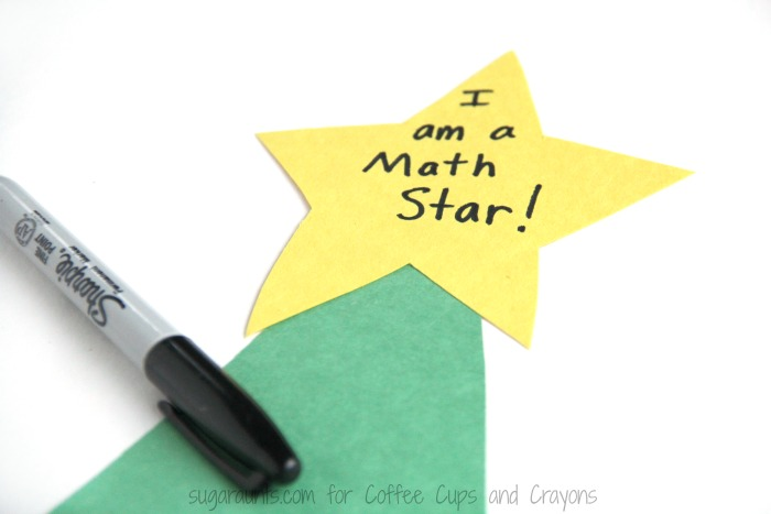 Kids will be excited to practice hands on math with this Christmas tree math activity.