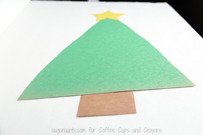 Try a Christmas tree math activity with the kids this time of year to practice math concepts.