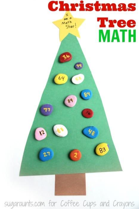 Kids will love this Christmas Tree math activity this season!