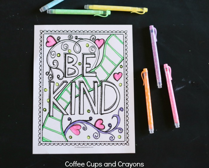 Get Kids Excited About Doing Good With A Kindness Coloring Page Coffee  Cups And Crayons