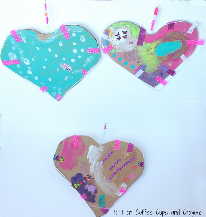 heart hangers a process art project