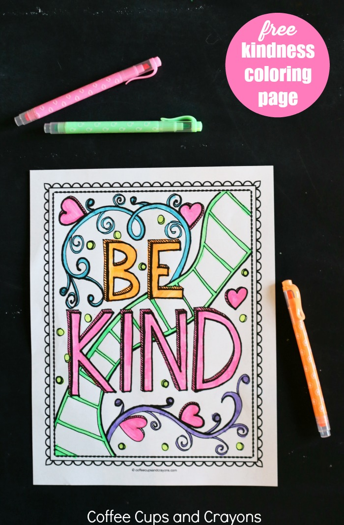 Free Coloring Pages Showing Kindness. This free printable kindness coloring page is a great way to encourage kids  be kind Get Kids Excited About Doing Good with Kindness Coloring Page