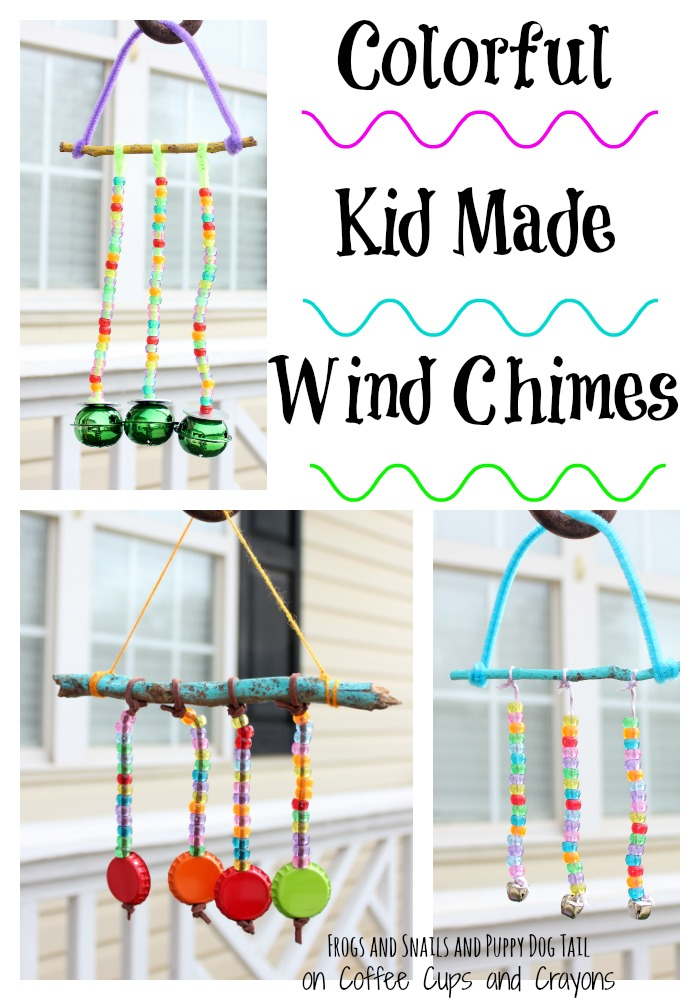 Colorful Kid Made Wind Chimes
