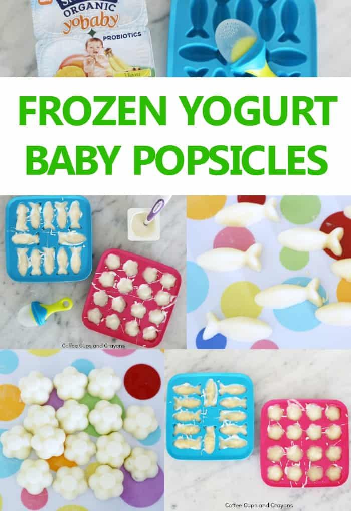 2 ingredient frozen yogurt popsicles for babies! Great for teething!