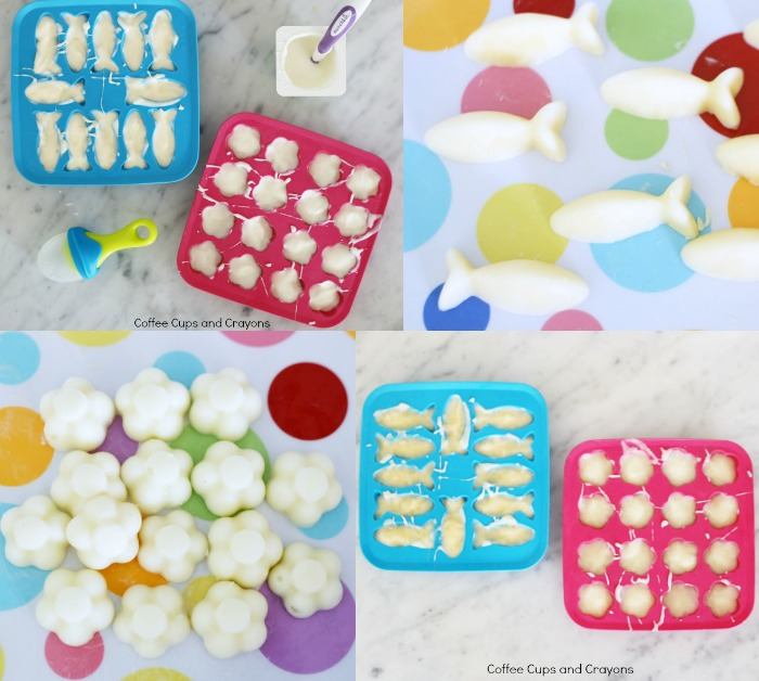 Yogurt popsicles for babies!
