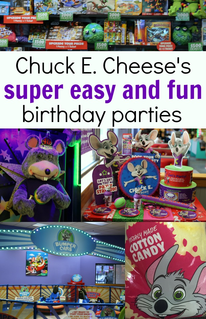 Need an easy and fun kids birthday party idea Have a Chuck E. Cheese's party!