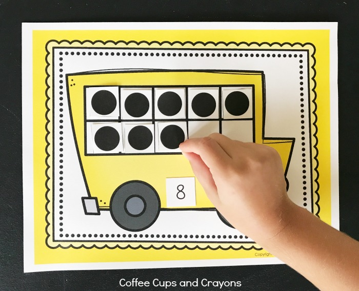 Super cute printable ten frame perfect for kindergarten!