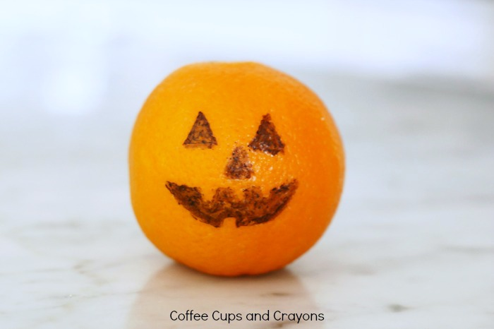 Healthy Halloween Jack o Lantern Orange Snack