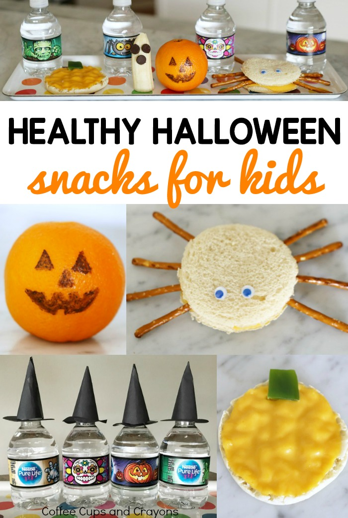 Healthy Halloween Snacks for Kids! Cute and easy to make!