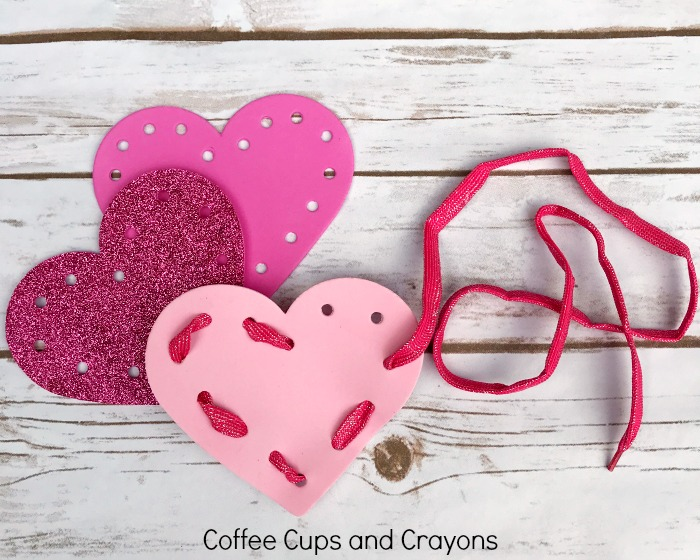 Heart Lacing Busy Bag for Kids!