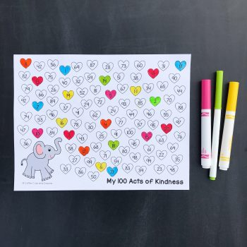 100 Acts of Kindness Project and Recording Sheet