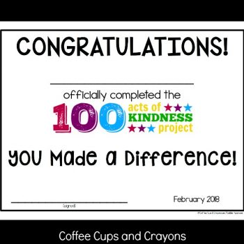 100 Acts of Kindness Certificate