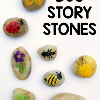 Bug Themed Story Stones for Preschool