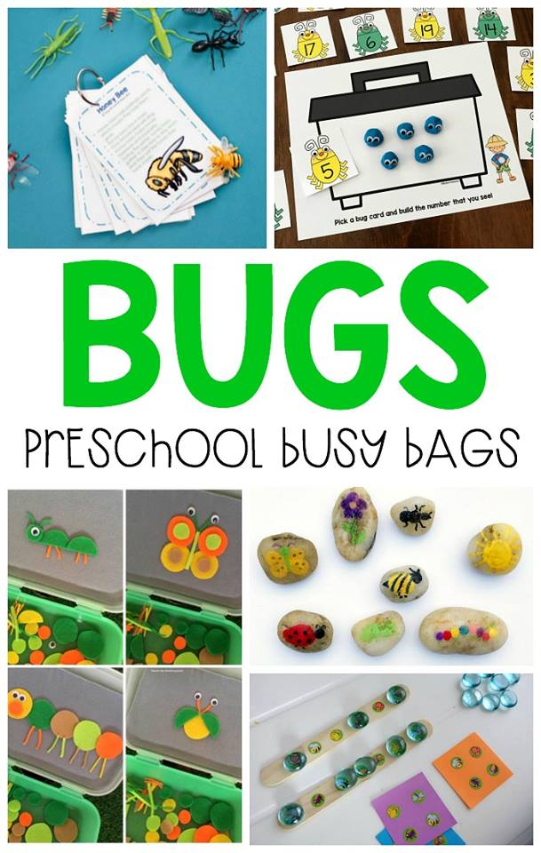 Bug themed busy bags for preschool!