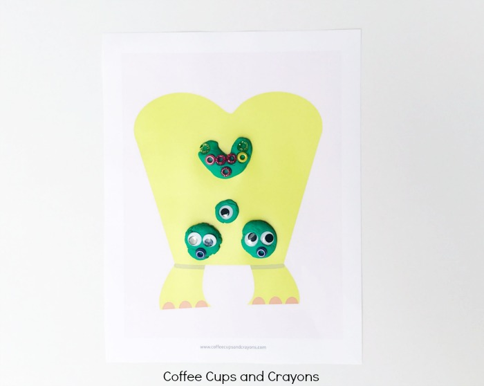 Printable monster play dough mats