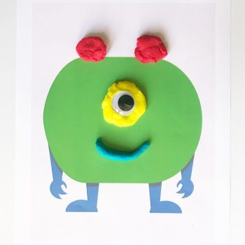 Super cute printable monster play dough mats for kids!