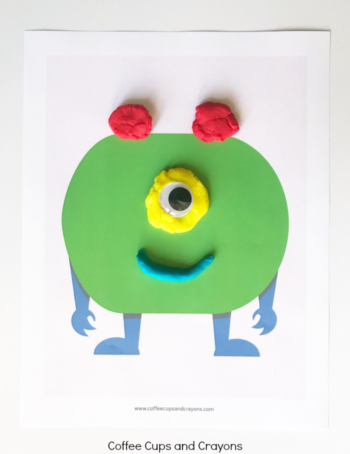 graphic about Printable Monster called Printable Monster Participate in Dough Mats Espresso Cups and Crayons