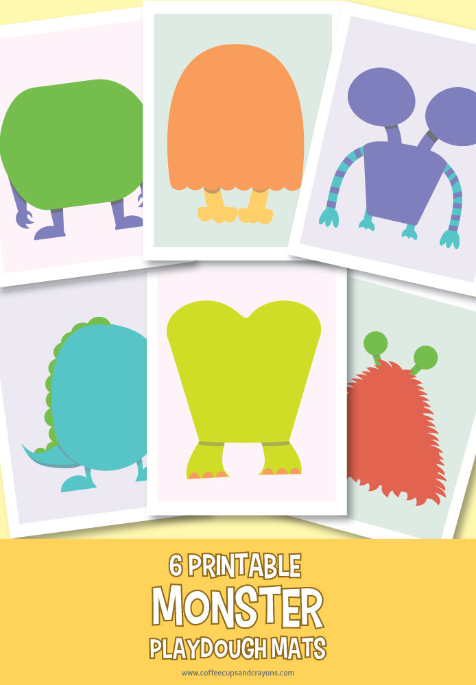 Free printable monster play dough mats!