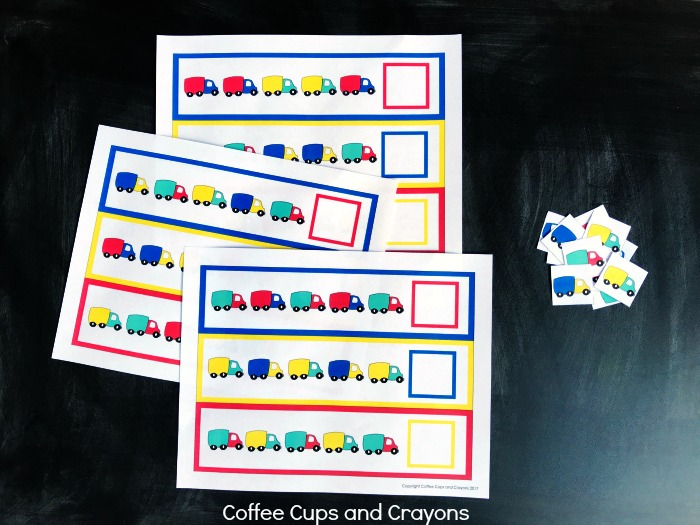 Preschool Math Pattern Printables | Coffee Cups and Crayons