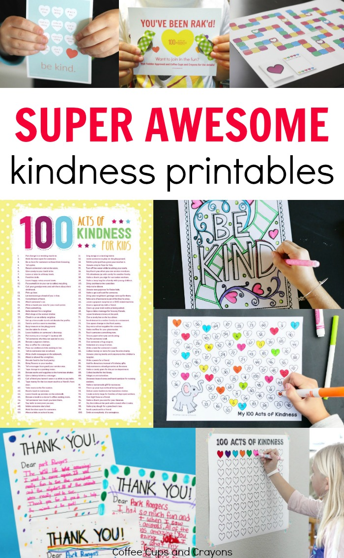Super awesome free printables for the 100 acts of kindness project! Everything you need to participate!
