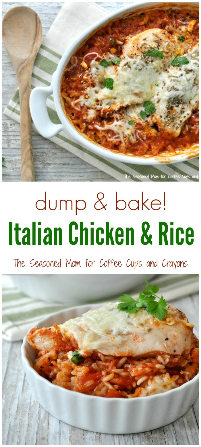 Dump and Bake Italian Chicken and Rice