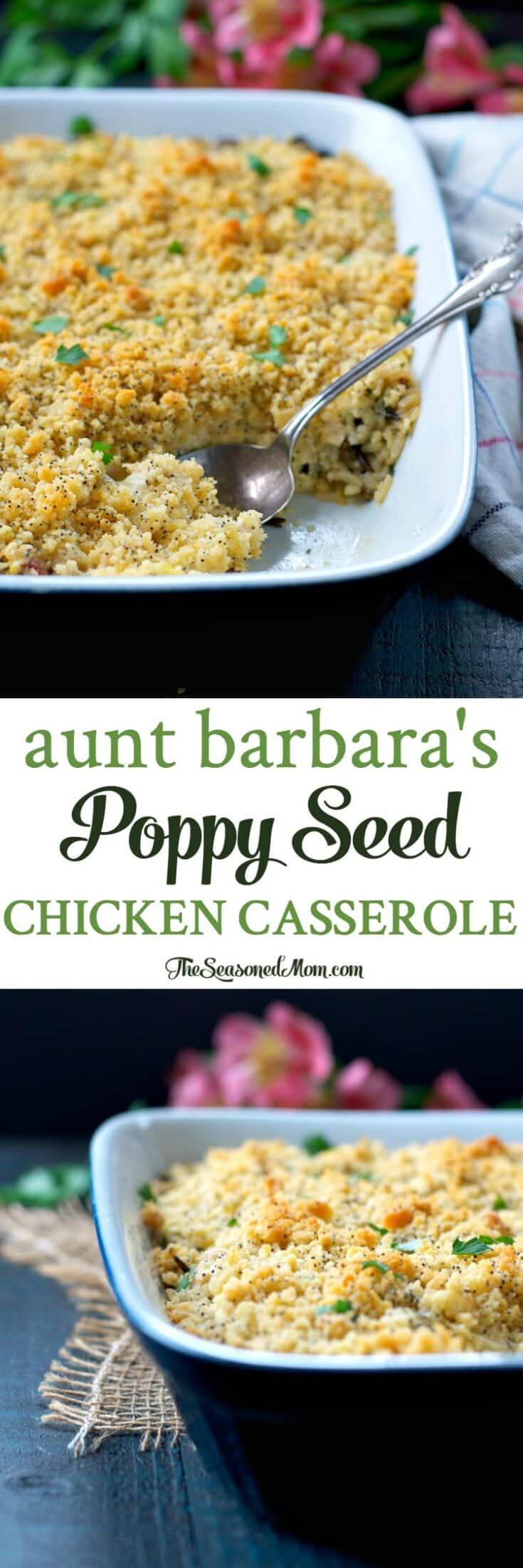Aunt Barbara's Poppy Seed Chicken Casserole